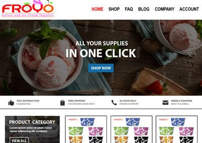 Froyo Gelato Supplies Website
