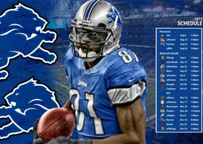 Detroit Lions Schedule Wallpaper