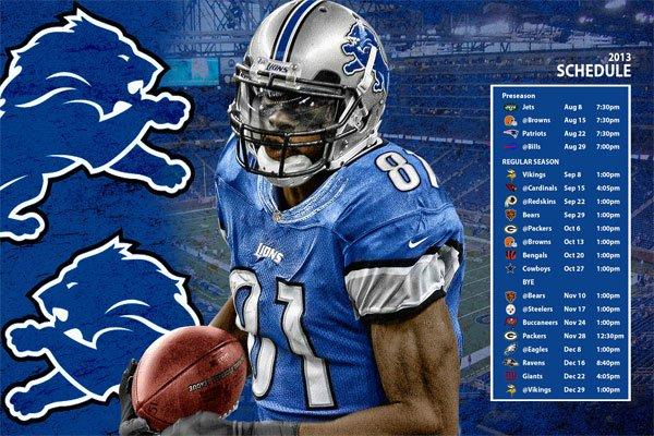 Detroit Lions Schedule Wallpaper