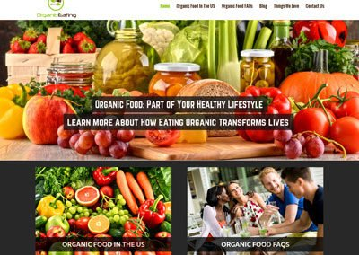 Organic Eating Website