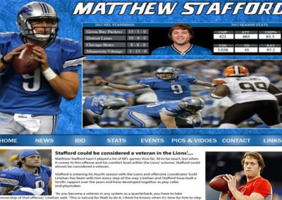 Matthew Stafford Fan Website
